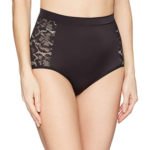 Flexees Women's Firm Foundations Tame Your Tummy Anti-Static Brief