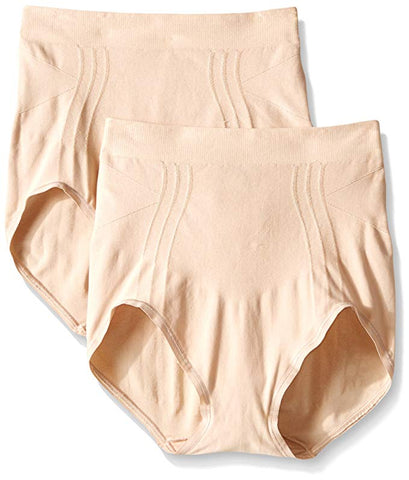 Bali Women's 2 Pack Comfort Revolution Shapewear Brief Style X866
