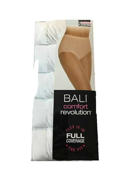 Barely There by Bali Comfort Revolution Microfiber Seamless Brief — 5 Pack