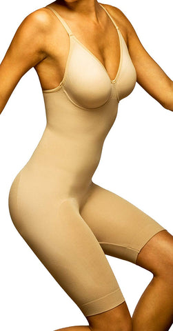 Body Wrap Seamless Plus Size Underwire Bodysuit with Long Legs