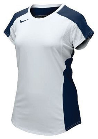 Nike 20/20 Women's White/Navy Cap Medium Short Sleeve T-Shirt Jersey