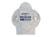 Soffe Athletic Wear Men Tops, Fleece Pull Over Hoodie/Michigan