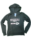 Soffe Athletic Wear Women Tops Fleece Deep V Neck Pull Over Hoodie/Missouri