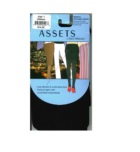 Assets By Sara Blakely Grosgrain Tights #255 (2, Black)