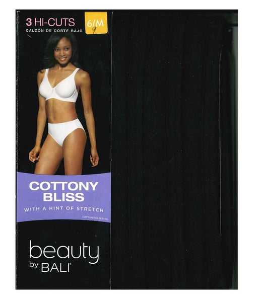 Beauty by Bali Women's Cottony Bliss Hi-Cut 3-Pack Style #UT43WP