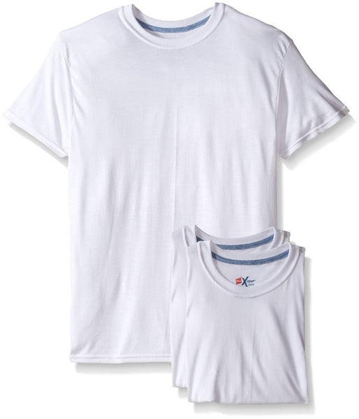 Men's Hanes 3-Pack X-Temp Comfort Cool White Crew