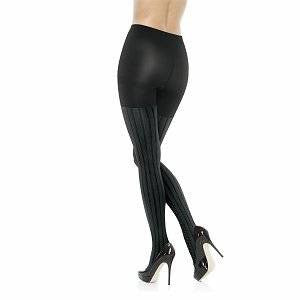 Assets Textured Shaping Tights, Cable Stripe