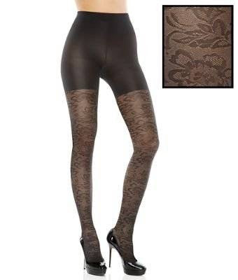 ASSETS Red Hot Label by SPANX : Floral Textured Shaping Tights