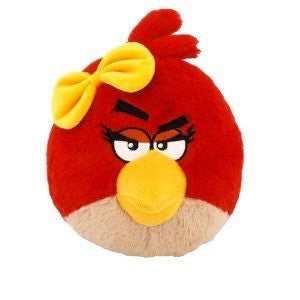 "Angry Birds Plush Backpack Clip 2.5"" - Red Birdy"