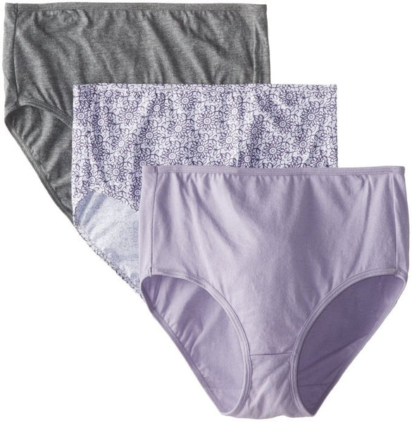 Bali Women's Luxe Cotton 3 Pack Brief Panty V882