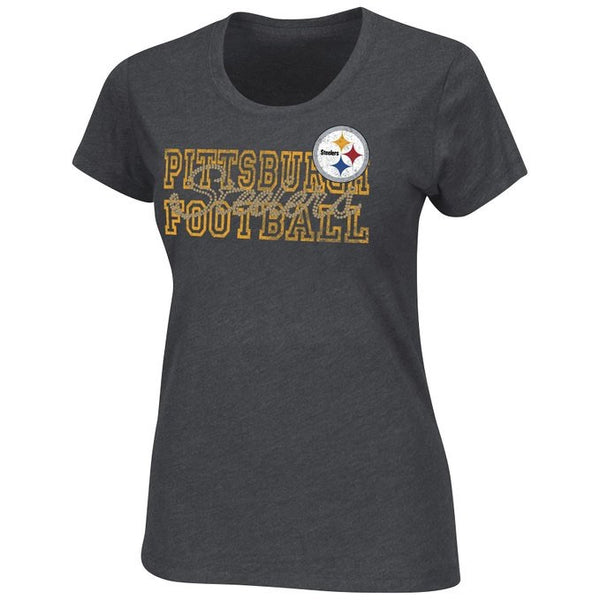 New Pittsburgh Steelers NFL Misses' More Than Enough Team Logo Tee QB606