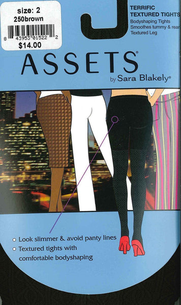 Assets by Sara Blakely High-Waist Shaping Tights, Brown, Size 2