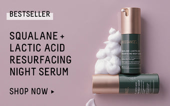 Squalane + Lactic Acid Resurfacing Night Serum. Shop Now.