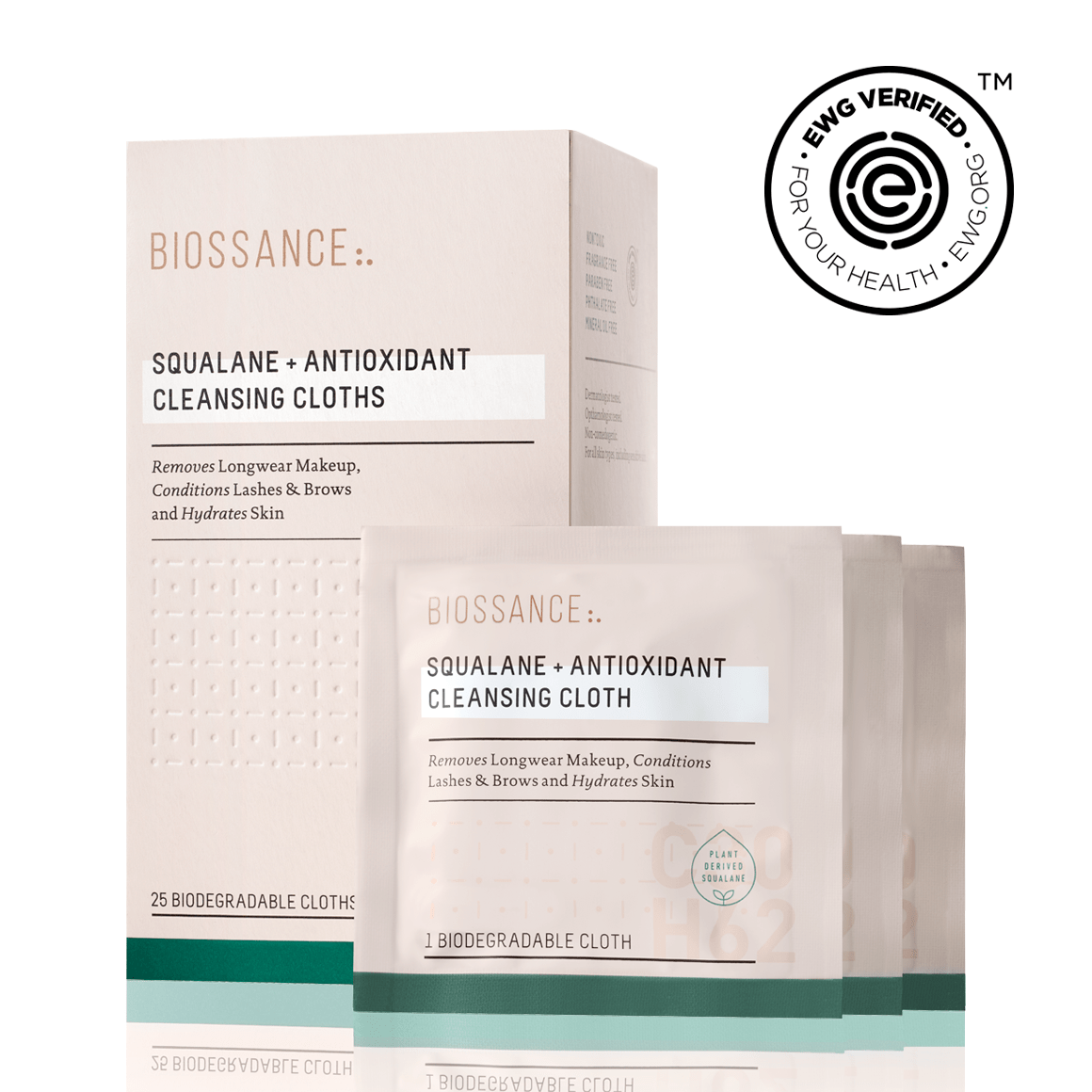 Squalane + Antioxidant Cleansing Cloths