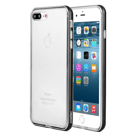 Pawtec Clear TPU Case with Aluminum Frame for iPhone 8 Plus / 7 Plus