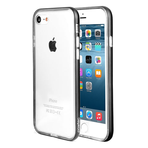 Pawtec Clear TPU Case with Aluminum Frame for iPhone 7