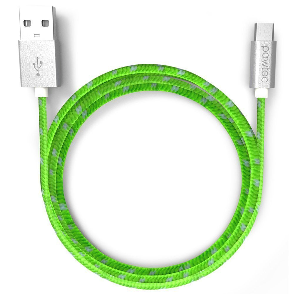 Pawtec 3.3 Feet/1Meter Micro USB Charge and Sync Cable (10 Pack - Lime Green)