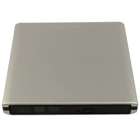 Pawtec External USB 3.0 Aluminum 8X DVD-RW Writer Optical Drive (Silver)