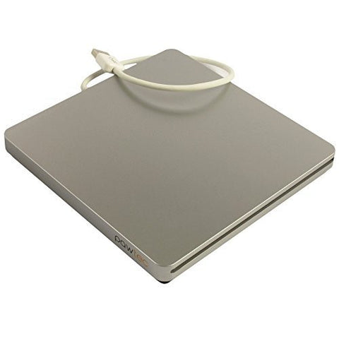 Pawtec UltraSlim External USB 3.0 Slot-Loading BDXL 3D Blu-Ray Writer / Burner - Silver