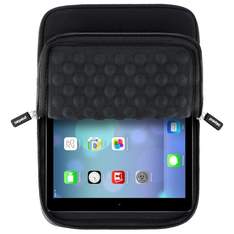 "Pawtec 12.9"" iPad Pro Shockproof Neoprene Protective Storage Sleeve With Extra Storage Pocket for Accessories"