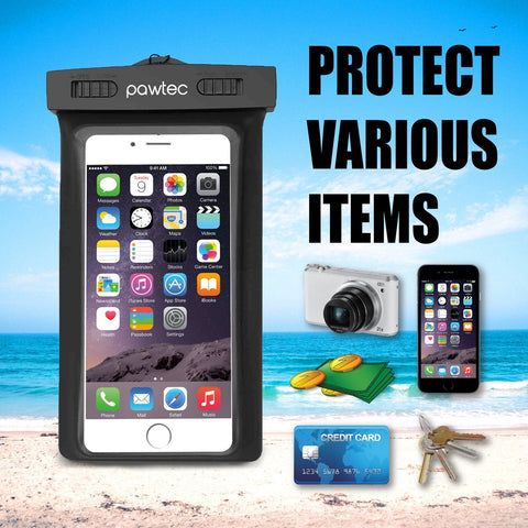 Pawtec Universal Waterproof Pouch Outdoor Case IPX8 for Smartphones and Accessories