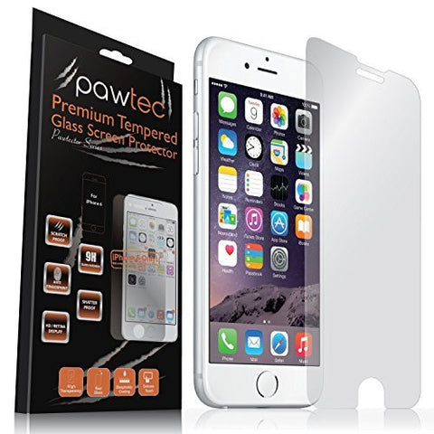 iPhone 6 / 6s / 7 / 8 (4.7 inch) Premium Grade Tempered Glass Screen Protector by Pawtec
