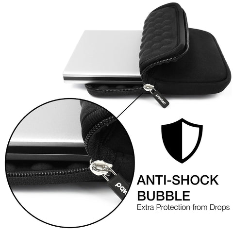 Pawtec Shockproof Neoprene Protective Carrying Sleeve With Extra Storage Pocket for External CD, DVD, Blu-Ray, and Hard Drives