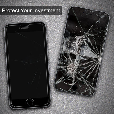 "iPhone 8 / 7 (4.7"") Premium Grade Tempered Glass Screen Protector by Pawtec (2 Pack)"