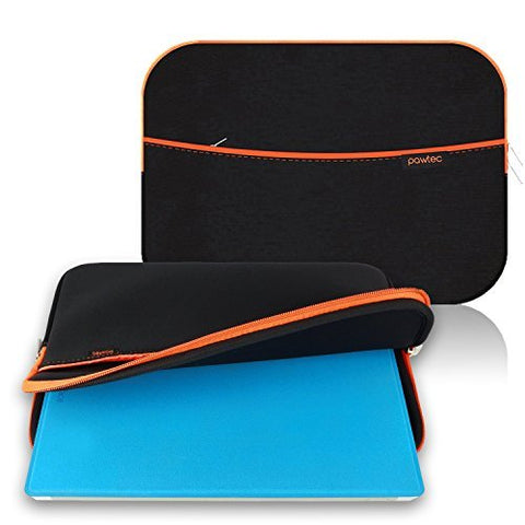 "Pawtec 12"" Surface Pro 6 / Surface Pro 5 / Surface Pro 4 / Surface Pro 3 Neoprene Protective Storage Sleeve With Extra Storage Pocket for Accessories"