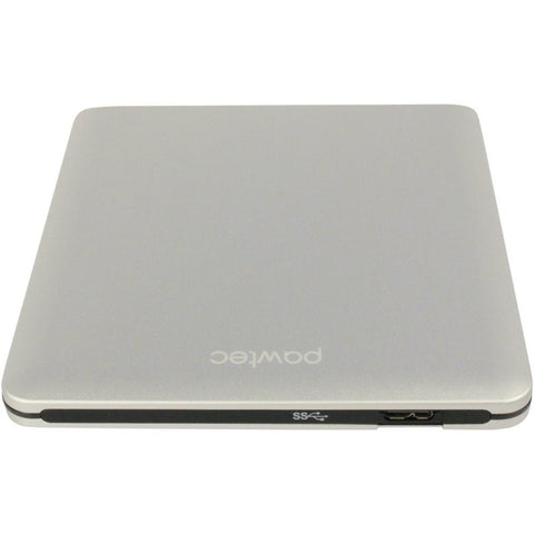 Pawtec SuperSlim External USB 3.0 Aluminum DVD Writer / Burner For PC & Mac (Silver)