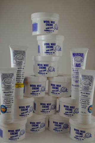 12 nine ounce jars plus 4 squeeze tubes Wool Wax Creme