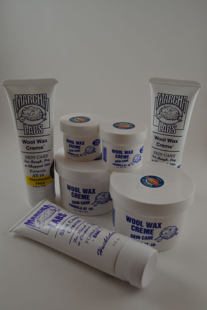 Three squeeze tubes, two 2 ounce jars, and two nine ounce jars Wool Wax Creme