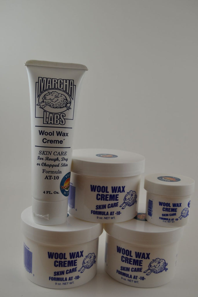3 nine ounce jars, 1 squeeze tube and 1 two ounce jar Wool Wax Creme