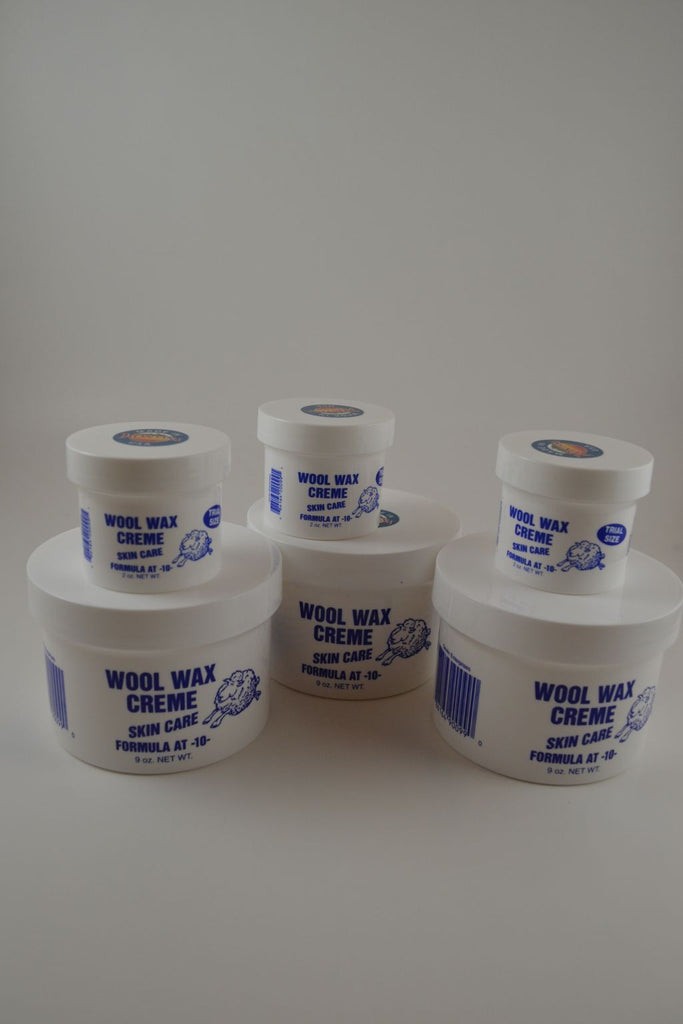 Three 9 ounce Jars & Three 2 ounce Jars Wool Wax Creme Together