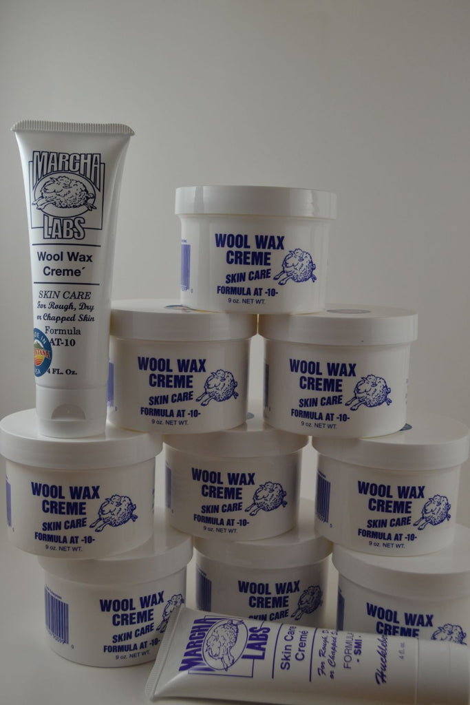 Buy 9 nine ounce jars and 2 squeeze tubes Wool Wax Creme