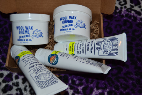 2 nine ounce jars and 3 tubes Wool Wax Creme