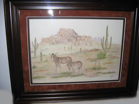 Montana Art: The Wanderers Colored Pencil Burrows ~ SALE~