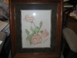 Montana Art: Roses Colored Pencil Drawing