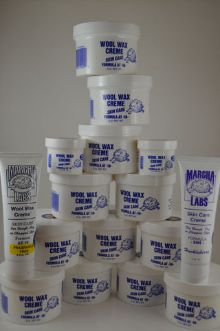 12 nine ounce jars plus 2 two ounce and 2 squeeze tubes Wool Wax Creme