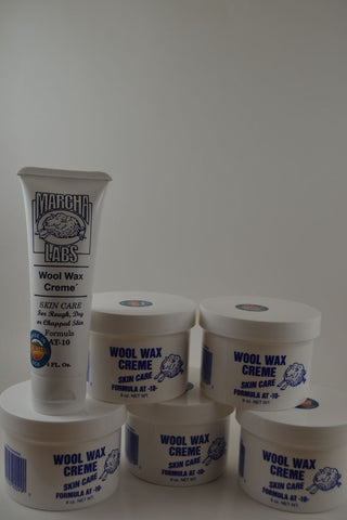 Five 9 Ounce Jars and One Squeeze Tube Wool Wax Creme