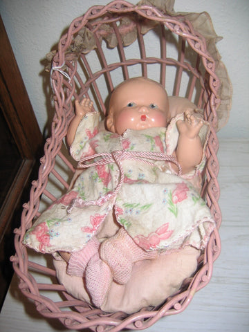 Baby Betty Doll and 1935 Crib