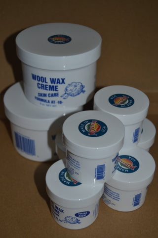 2 nine ounce jars and 6 two ounce jars Wool Wax Creme