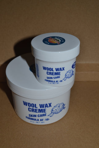 1 nine ounce jar ad 1 two ounce jar Wool Wax Creme