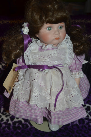 """AUBREY"" Betty Jane Carter Doll Vintage MUSICAL Porcelain Doll Limited Edition Plays ""Pennies from Heaven"" 1987"