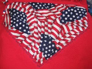 Patriotic T-Shirt Red Women's Large Size