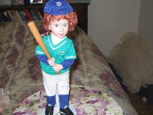 """Batter Up"" Tender Memories Doll by Avon"
