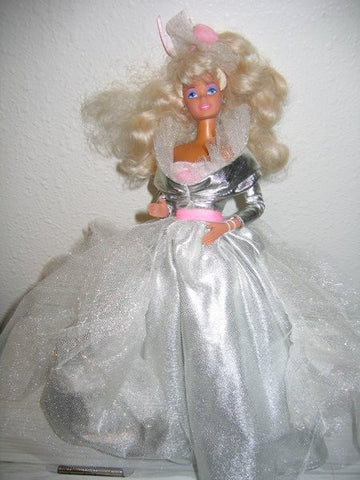 Barbie in Silver Gown with Pink Accessories