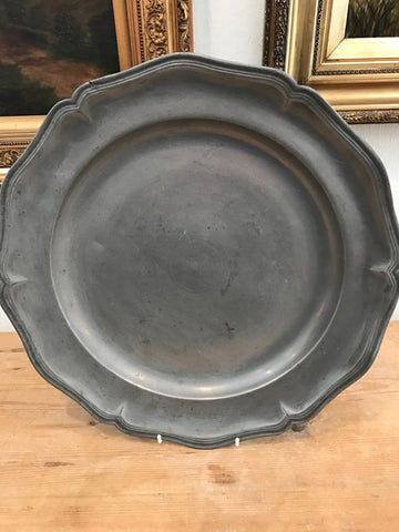 Scalloped Edge Pewter Charger