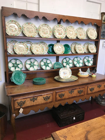English Oak Dresser and Plate Rack