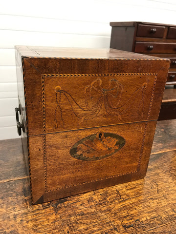 English Inlaid Stationary Box
